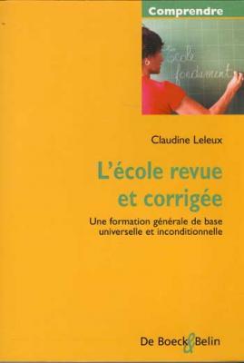 L'école revue et corrigée par Claudine Leleux