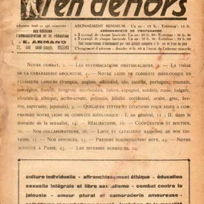 L'en dehors. E.Armand. Août-septembre 1936