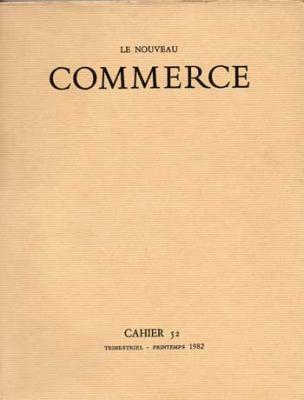 Le Nouveau Commerce. Cahier 52