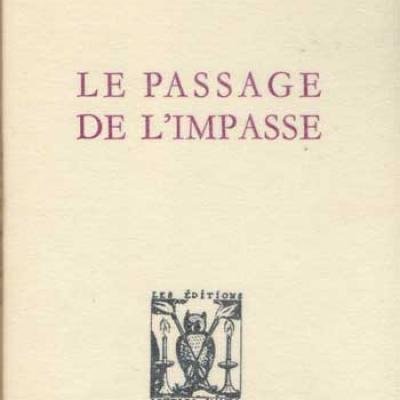 Le passage de l'impasse par Michel Camus