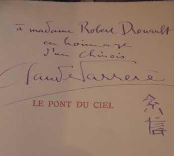 Le pont du ciel par Claude Farrère Avec Envoi de Farrère Eaux-fortes de C.Roche