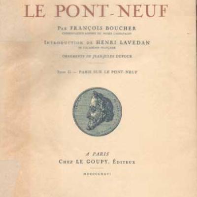 Le pont-neuf par François Boucher Tome 1 et 2