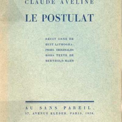 Le postulat par Claude Aveline