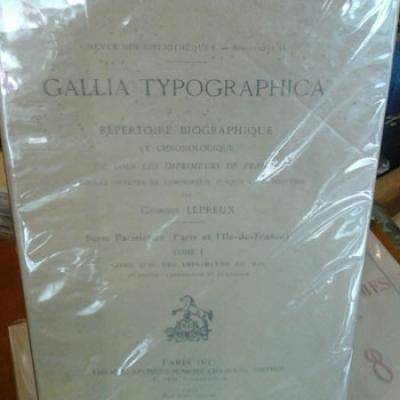 Lepreux G. Gallia Typographica
