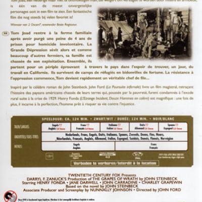 LES RAISINS DE LA COLERE LE LIVRE + LE FILM