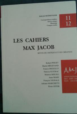 Collectif les cahiers Max Jacob Numéro 11-12