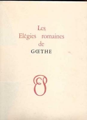 Goethe Les Elégies romaines. Lithographies de René Jaudon