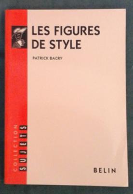 Bacry P. Les figures de style