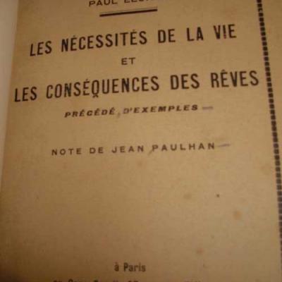 Eluard Paul Les nécessités de la vie et les conséquences des rêves
