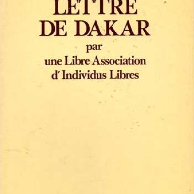 Collectif Lettre de Dakar par une Libre Association d'Individus Libres