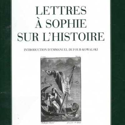 Fabre d'Olivet Antoine Lettres à Sophie sur l'histoire VENDU