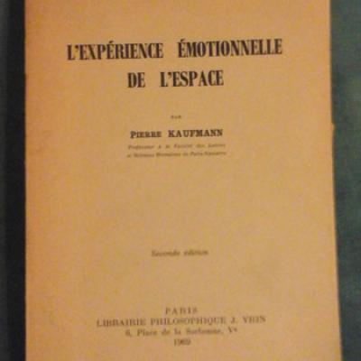 Kaufmann P. L'expérience émotionnelle de l'espace