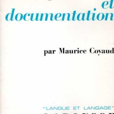 Coyaud Maurice Linguistique et documentation