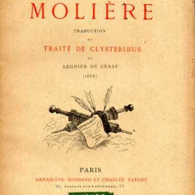 Graaf (Régnier de) L'instrument de Molière Traduction du Traité de Clysteribus