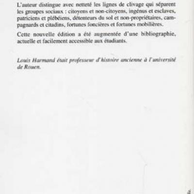 Société et économie de la république romaine par Louis Harmand