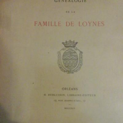Généalogie de la famille de Loynes