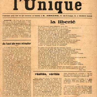 L'Unique E.Armand Les cinq premiers numéros Juin 1945