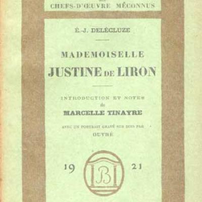 Mademoiselle Justine de Liron par E.J.Delécluze