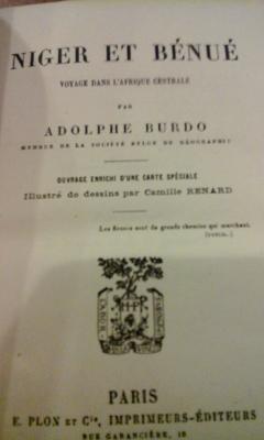 Burdo A. Niger et Bénué Voyage dans l'afrique centrale