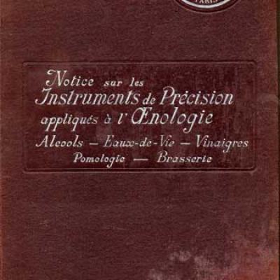 Dujardin J. Notice sur les instruments de précision appliqués à l'oenologie