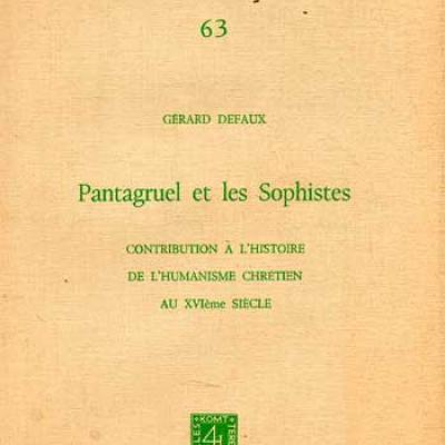 Defaux Gérard Pantagruel et les Sophistes