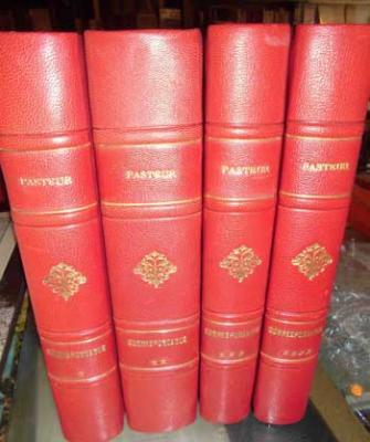 Pasteur Correspondance Tome 1 à 4 Volumes reliés