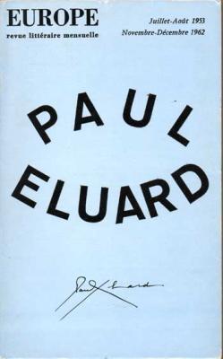 Collectif Paul Eluard Revue Europe