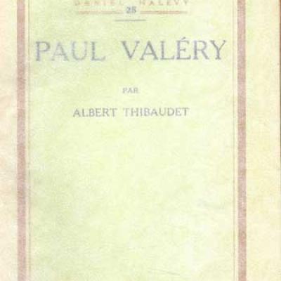 Thibaudet Albert Paul Valéry