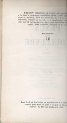 Peaux de couleuvre Tome 1 par Etiemble. Edition originale sur vélin