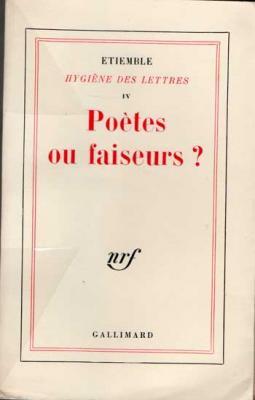 Hygiène des lettres Volume IV. Envoi d'Etiemble à Jacques Brenner