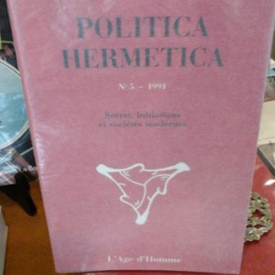Collectif Politica Hermetica Numéro 5