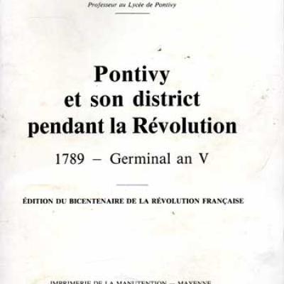 Corgne Eugène Pontivy et son district pendant la Révolution