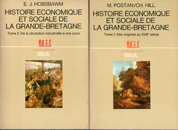 Postan M. et Hill Ch. Histoire économique et sociale de la Grande-Bretagne Complet en deux tomes