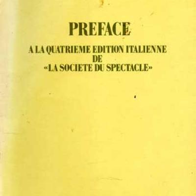 Debord Guy Préface à la quatrième édition italienne de