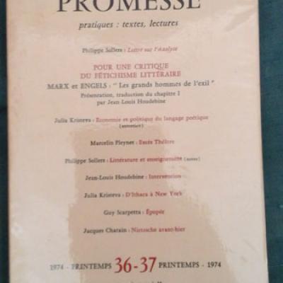 Collectif Revue Promesse Numéro 36-37