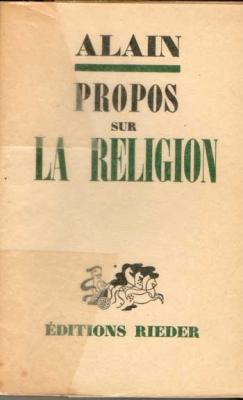 Alain Propos sur la religion Edition originale sur alfa