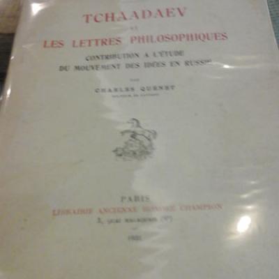 Quénet Charles Tchaadaev et les lettres philosophiques