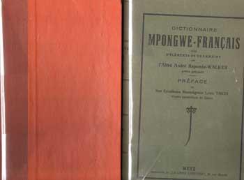 Raponda-Walker André Dictionnaire Mpongwe-français et Dictionnaire Français Mpongwe VENDU