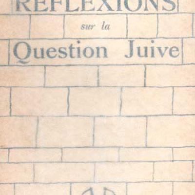 Sartre J.P. Réflexions sur la question Edition originale