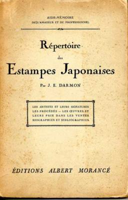 Darmon J.E. Répertoire des Estampes japonaises VENDU