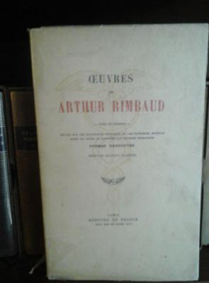 Rimbaud Arthur Oeuvres Vers et proses Poèmes retrouvés
