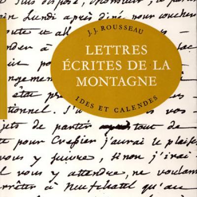Lettres écrites de la montagne par Rousseau