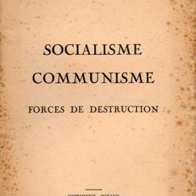 Socialisme Communisme Forces de destruction par Georges Valeix