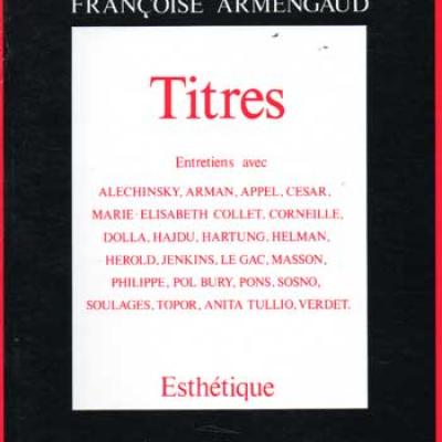 Armengaud Françoise Titres Entretiens