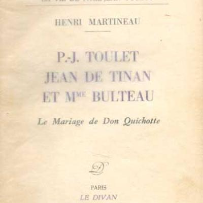 Martineau Henri P.J.Toulet Jean de Tinan et Mme Bulteau Le mariage de Don Quichotte