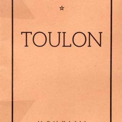 Témoignages Toulon par Yves Farge Exemplaire sur vélin