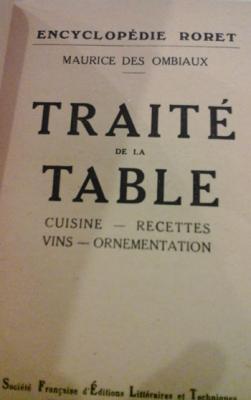 Des Ombiaux Maurice Traité de la table