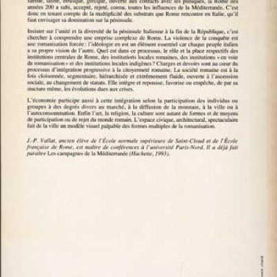 L'Italie et Rome 218-31 av.J.-C. par J.P.Vallat