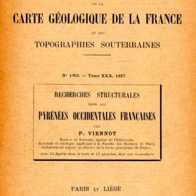 Viennot P. Recherches structurales dans les Pyrénées occidentales françaises