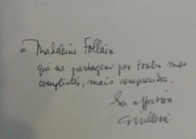 Guillevic Vivre en poésie Bel envoi de Guillevic  à Madeleine Follain
